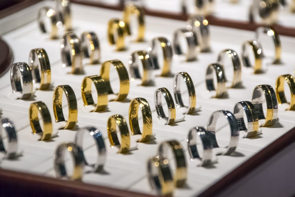 Набор золотых колец